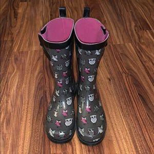 ☔️Cute Owl Rain Boots 🌦